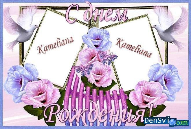 Именная открытка с днем рождения для фотошопа, надписью против