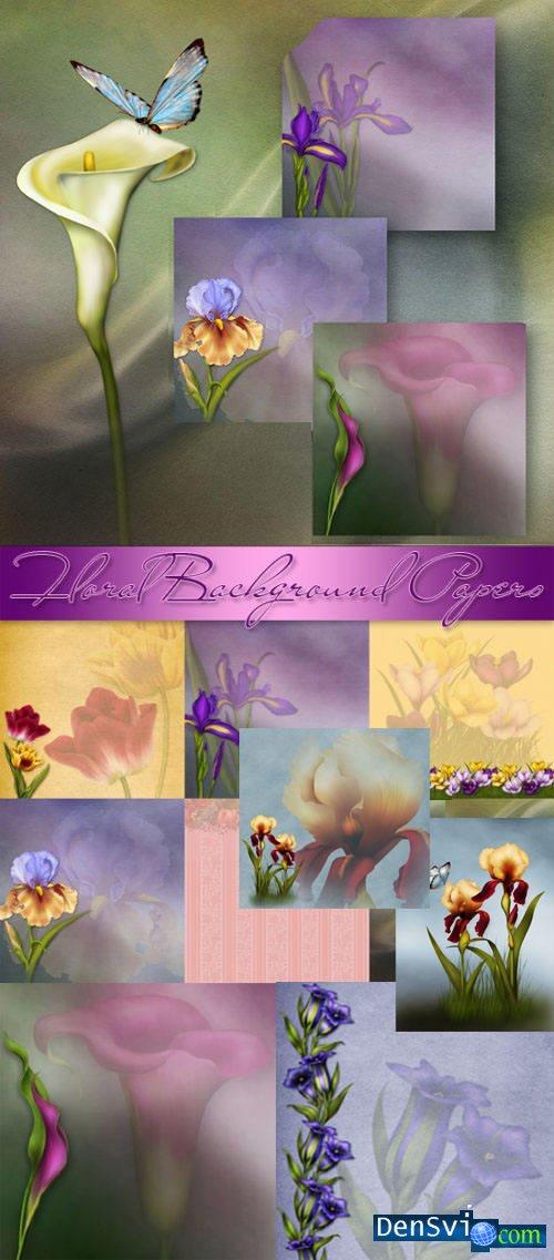 Цветочные фоны для фотошопа
