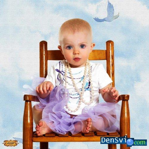 Детский шаблон фотошоп маленький