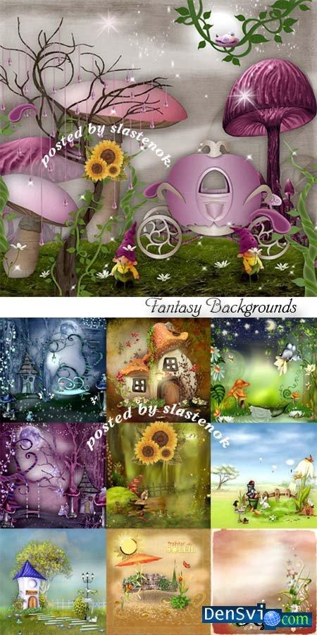 Детские сказочные фоны фотошоп