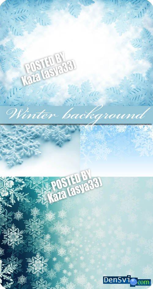 Нежные зимние фоны для фотошопа