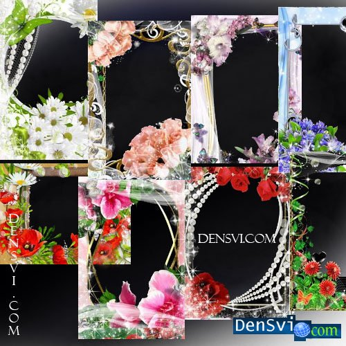 Красивые рамки photoshop праздник цветов