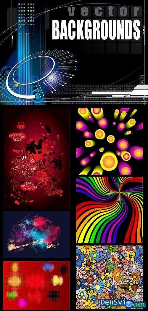 Декоративные векторные фоны фоны