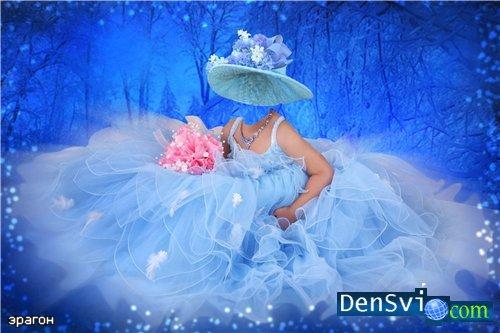 Новый детский шаблон photoshop для девочки