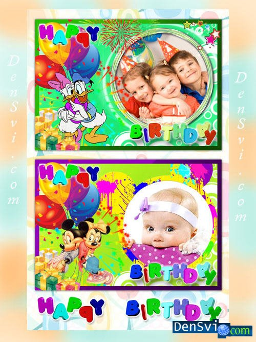 Рамки фотошопа детские диснеевские