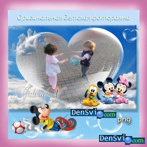 Оригинальная детская рамка photoshop