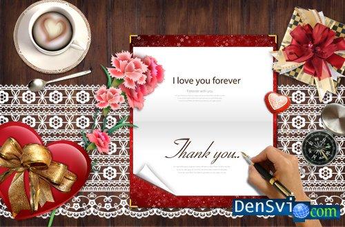 Psd исходники любовное письмо