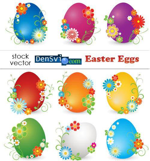 Векторный клипарт пасхальные яйца