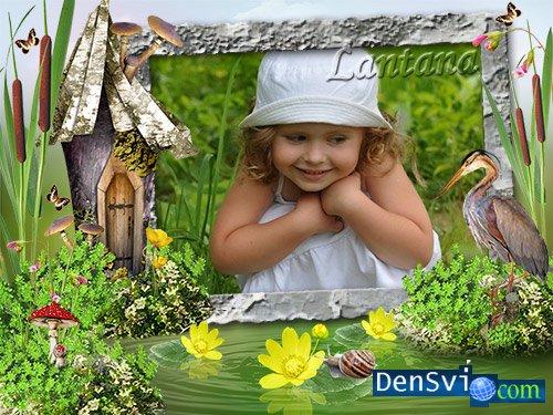 Детская рамка - Летние развлечения » Всё для Фотошопа ...: http://densvi.com/14788-detskaya-ramka-letnie-razvlecheniya.html