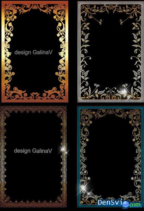 рамки для фотошопа узоры: