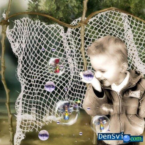 Детский скрап фотошоп морские феи