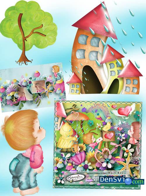 Нарисованная картинка сказочного домика в деревне