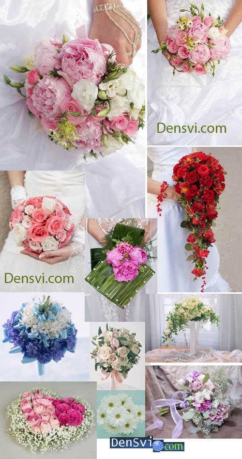 Фотоклипарт свадебные букеты
