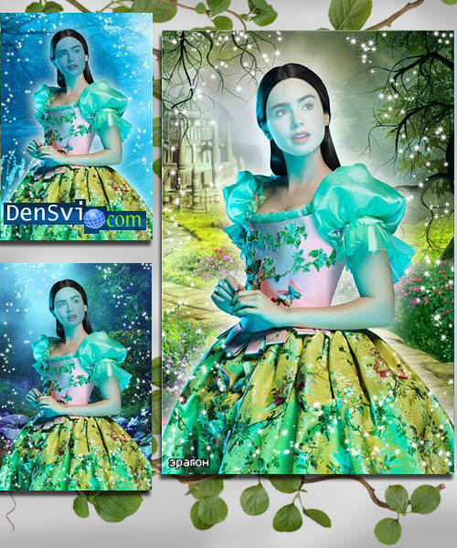 Шаблон фотошоп сказочно красивая фея
