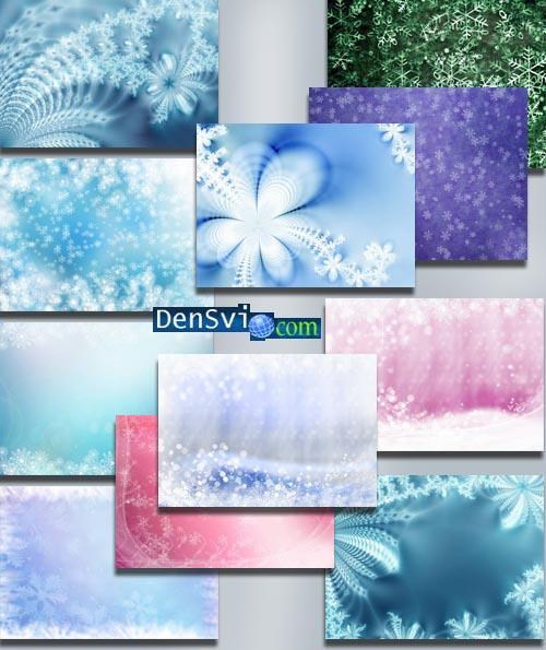 Зимние растровые фоны фотошоп фоны