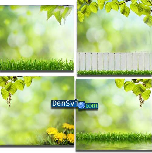 Фоны Фотошопа - Зелёная весна » Всё для Фотошопа - фоны шаблоны ...