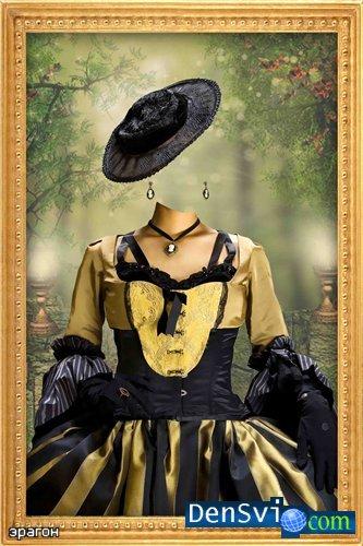 Женский костюм шаблон фотошоп