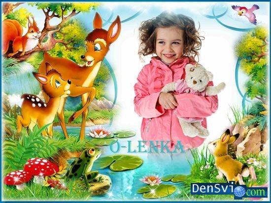 Детская рамка фотошоп дружелюбные