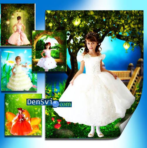 Шаблоны фотошоп детские нарядные
