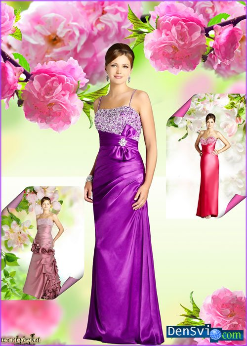 Шаблоны фотошоп весенние красавицы
