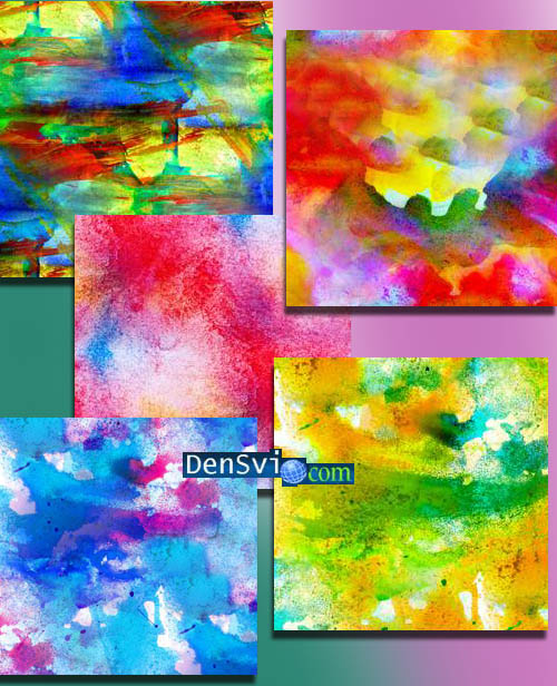 Абстрактные акварельные фоны фотошоп