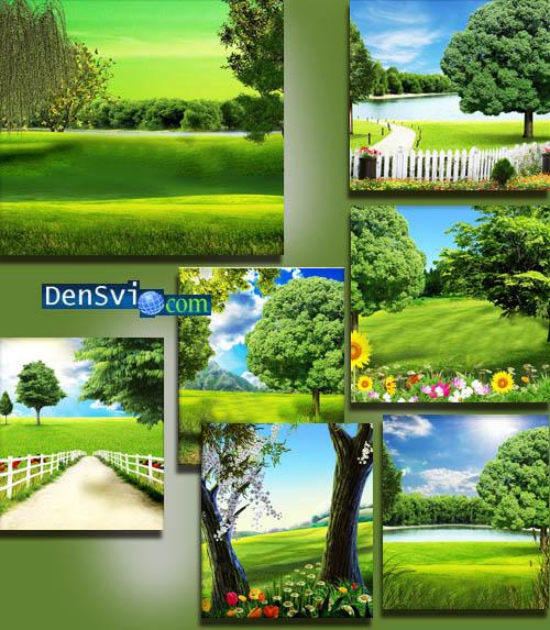 Фоны фотошоп весенне летняя природа