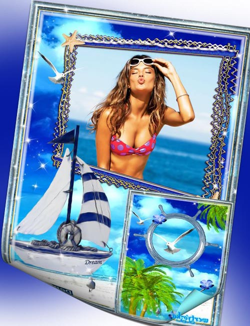 Рамки фотошоп тёплый морской поцелуй