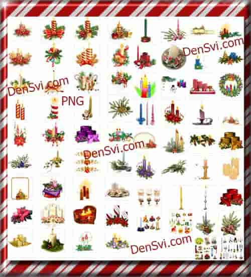 ���������� ����� - PNG ������� ������� | Christmas candles