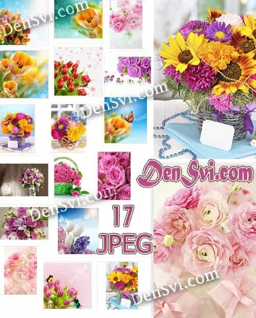 Цветочные букеты - Фоны Фотошопа скачайте бесплатно