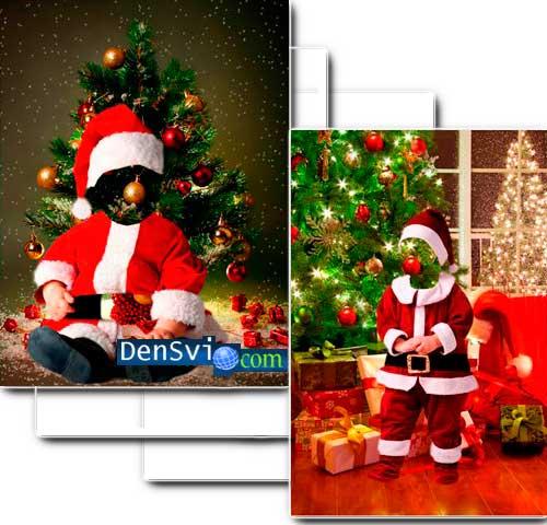 Коллажи новогодние картинки шаблоны для фотошопа новогодние