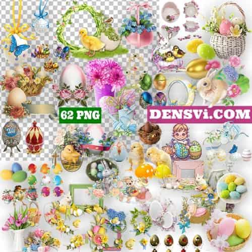 Пасха украшение 62 декора PNG клипарт
