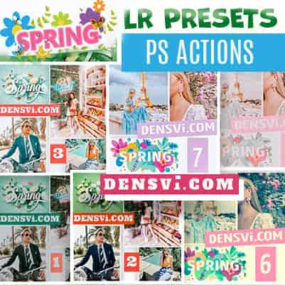 Spring presets lightroom Photoshop actions free download