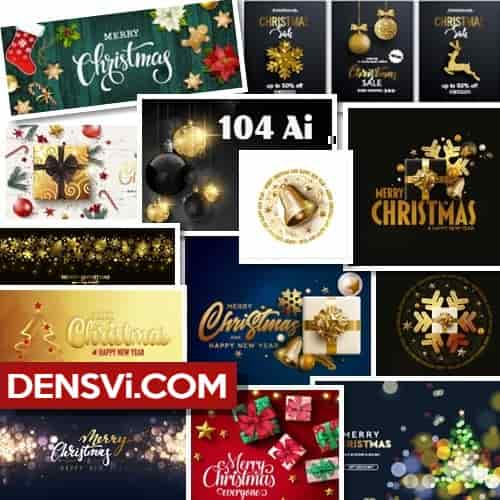 Christmas vector 104 designs